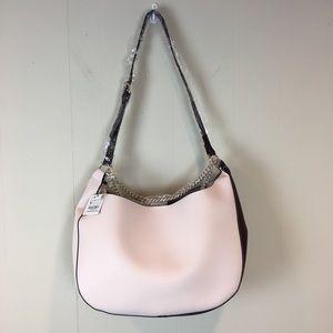 Zara Bucket Bag with Chain Pink And Burgundy